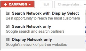 google adwords display network options