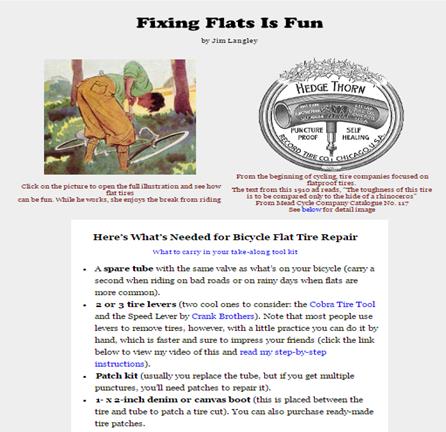 fixing flat tire - evergreen content